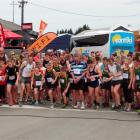 The 103 runners in Kelly's Canter set off from the Palmerston Railway Station yesterday for the...