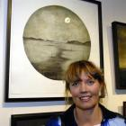 The 2009 City of Dunedin Art Awards winner, Anna Reid, with her entry, Departure. Photo by Gregor...