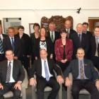 The 2011-13 Clutha District Council. Front row (from left) John Cochrane, Clutha mayor Bryan...