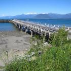 The 75-year-old Jackson Bay wharf needs a spruce-up. Photo by Marjorie Cook.