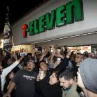 The 7-11 store where a winning Powerball ticket was sold is seen in Chino Hills, California....
