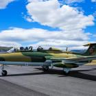The Aero L-29 jet, now based at Wanaka Airport, which will feature in a high-speed jet race  at...
