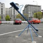 The appearance of a seesaw in a leased space at the Crawford St car park has Dunedin City Council...