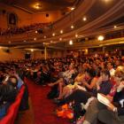 The audience listens to Dr Dave Gerrard's University of Otago graduation address at the Regent...