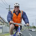 The author on the Royal Cres cycleway. Photo by John Fridd