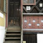 The back door of the house of a man who is suspected of having imprisoned, beaten and sexually...