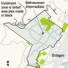 The Balmacewen Intermediate School enrolment zone. ODT graphic.
