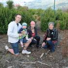 The Burden family look at the site where a pohutukawa tree they planted for baby Cooper has been...