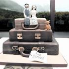 The cake of Isaac MacKintosh and Clare Mackay, who were married at Mt Cook in May. Photo by...