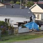 The car crashed into a bedroom vacated just hours before. Photo / Greymouth Star