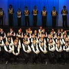 The cast in the 2009 Gang Show step out in one of the opening numbers during a dress rehearsal at...