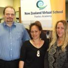 The Catlins Area School virtual trades academy director Allan Jon, learning adviser Tracy...