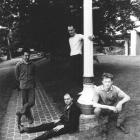 The Chills circa 1985, (from left) Phillipps, Terry Moore, Alan Haig and Peter Allison. Photo...
