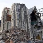The Christchurch Cathedral, post-earthquakes. Photo by NZPA.