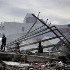 The collapsed CTV building in Christchurch. Photo ODT files