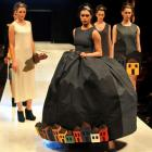 The collection ''Shadow'' by Italian designer Mahshid Mahdian graces the catwalk as the winning...