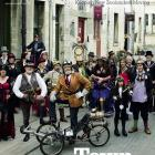The cover of AA Directions autumn magazine, featuring Oamaru's Steampunk society, surrounded by...
