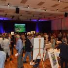 The crowd at the art auction to raise money for Wakatipu High School's Branches Camp. Photo by...