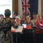 The Dunedin Library choir performs in 2009. Photo by Peter McIntosh.