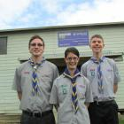 The efforts of Mosgiel Scout Group members (from left) Michael Thompson, Willow Millar  and Ben...