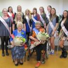 The festival princesses and Alexandra Festival Senior Queen (front right), and runner up. Photo...