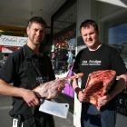 The Fridge Butchery and Delicatessen owners, butcher Bodean Cowley (left) and chef Scott...