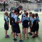 The George St Normal Rockets, down by two in their Rippa rugby game against St Bernadette's,...