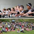 The George Street Normal School kapa haka and Pasifika performance group gets into the swing of...