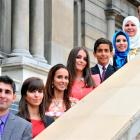 The Ghandour family, newly-sworn New Zealand citizens (from left) Abdullah (25), Amani  (19),...