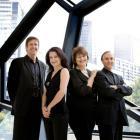 The Goldner Quartet (from left) Julian Smiles, Dimity Hall, Irina Morozova and Dene Olding and...