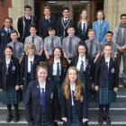 The group of high school pupils from Otago Boy's High School, Otago Girls' High School, one from...
