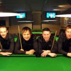 The Harry's Pool team,  comprising (from left) Andy Campbell, Simon Singleton, Ciaran Hayes and...