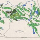 The Hills golf course map.
