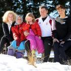 The Hungarian family of  Bianka, Laura, Lola, Gyorgy Nagy and Ildiko Szekeres enjoy  the...