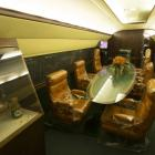 """The interior of the """"Lisa Marie"""", a Convair 880 jet owned by entertainer Elvis Presley, is..."""