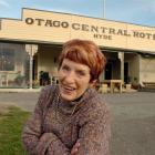 The irrepressible Ngaire Sutherland outside her hotel. Photo by Jane Dawber.