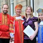 The Keniya family (from left) Dr Mikhail Keniya, Olga Keniya, Alena Plaksina and Nadya Keniya...