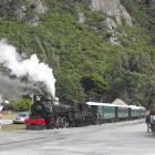 The Kingston Flyer starts up for its first trip of the year after the boiler of locomotive Ab 795...