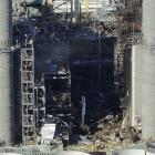 The Kleen Energy plant is seen in this aerial photo after an explosion in Middletown, Connecticut...