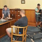 The Light Between Oceans crew set up in an office at Allied Press, in Dunedin, last month. Photo...