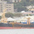 The Melilla 203 remains berthed at Dunedin's X/Y sheds as its original charterer Trans Pacific...
