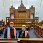 The Ministry of Justice's general manager commercial and property, Fraser Gibbs, and deputy...