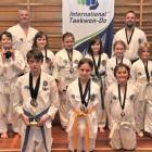 The Mosgiel Taekwondo Club with its medal haul after the International Taekwondo South Island...