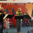 The New Zealand String Quartet perform for Arrowtown Primary School pupils as part of the ...