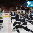 The New Zealand Under-18 National Ice Hockey Team  performs a haka on ice before  its...