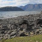 The northwest arm of Roys Peninsula (centre left), a prominent land form in Lake Wanaka, has been...