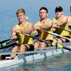 The Oamaru Rowing Club crew of (from left) Mark Taylor, Charlie Wallis, Jared Brenssell and James...