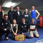 The Otago boxing team, after its victory over Canterbury. Standing, left to right: Mathew Eaden,...