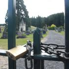 The padlock on the gates of the West Taieri Cemetery is soon to be taken off after the Mosgiel...