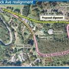 The proposed Lovelock Ave realignment. ODT Graphic.